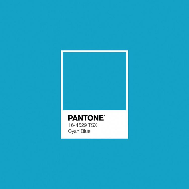 Identificazione del colore ciano Pantone