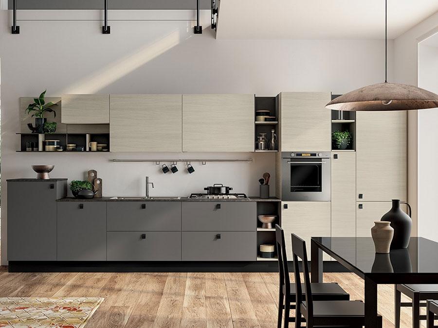 Modello di cucina beige e grigio n.01