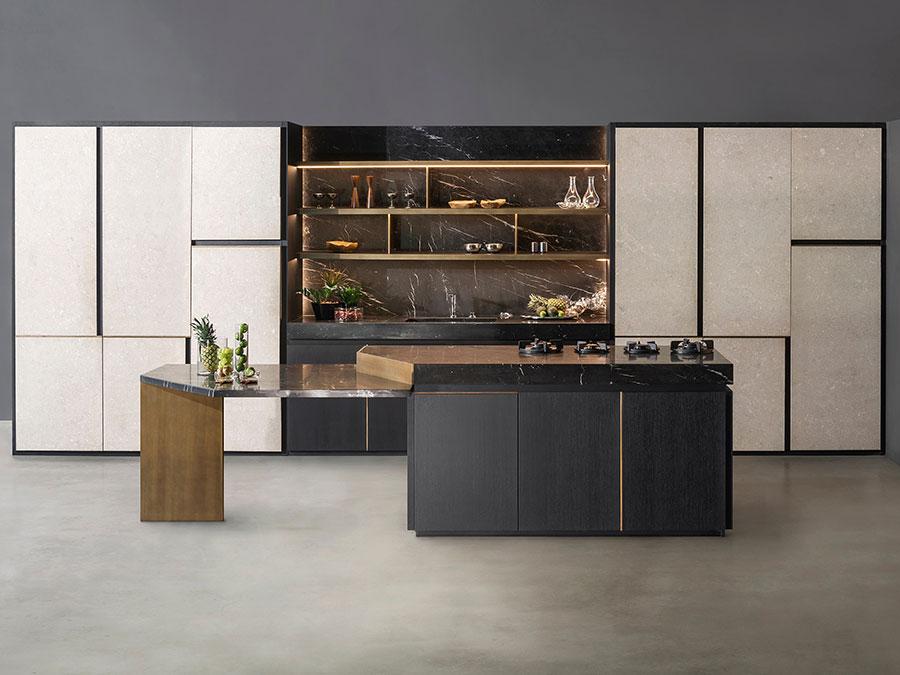 Modello di cucina beige e grigio n.02