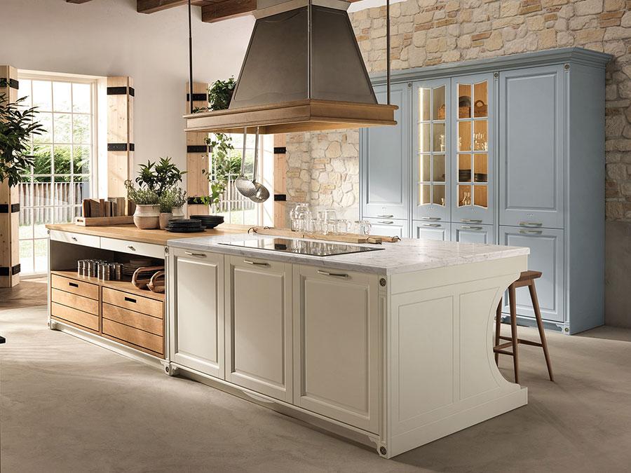 Modello di cucina beige e legno n.03