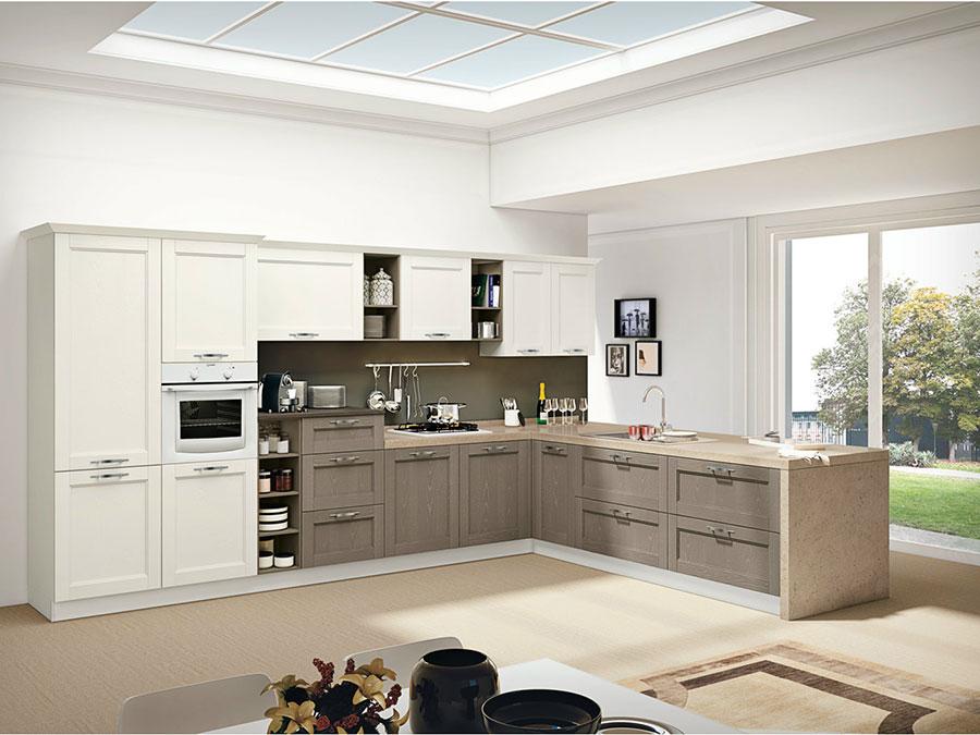 Modello di cucina beige e marrone n.03