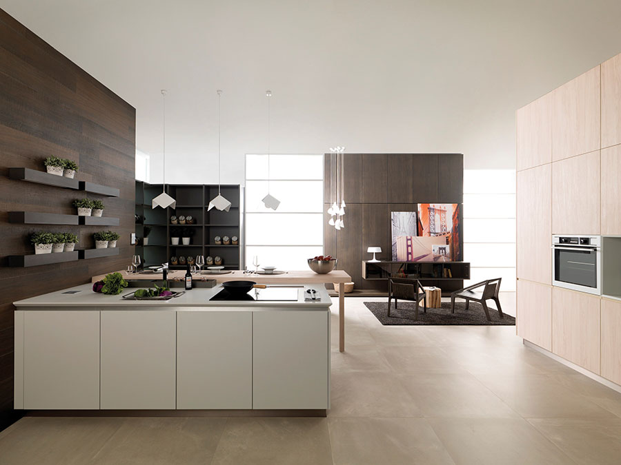 Modello di cucina beige moderna n.02