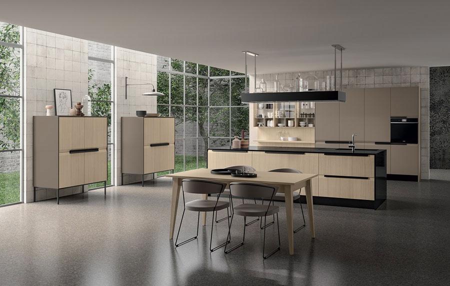 Modello di cucina beige e tortora n.01