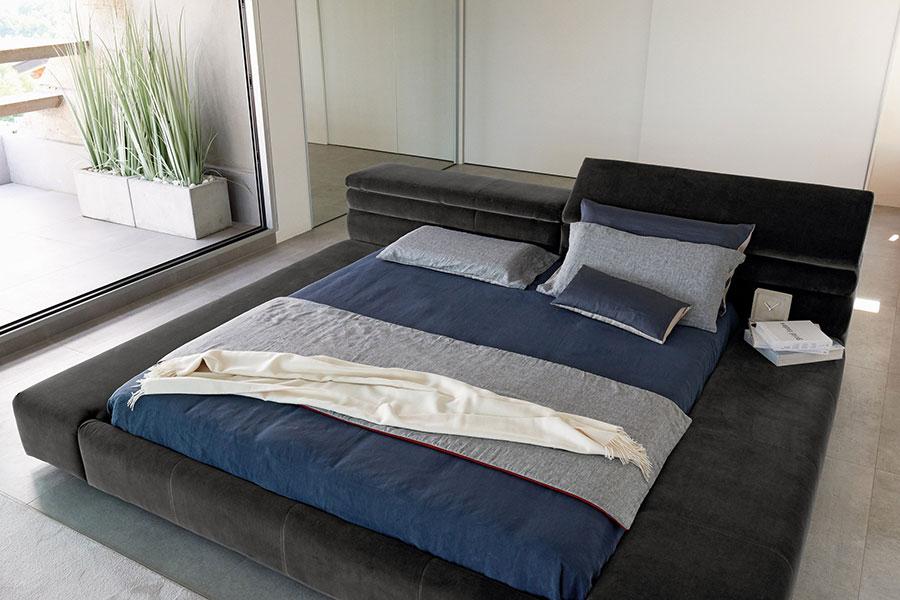 Modello di letto imbottito di Arketipo n.01