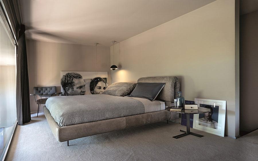 Modello di letto imbottito di Arketipo n.02