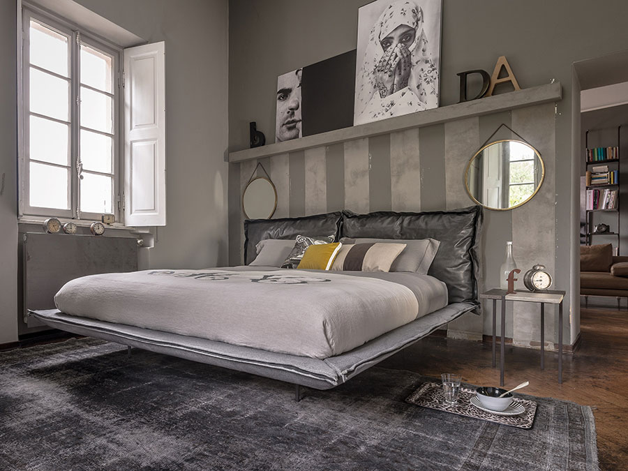 Modello di letto imbottito di Arketipo n.03