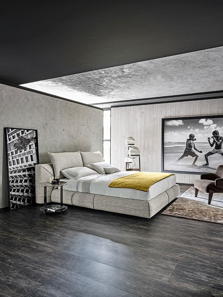 Modello di letto imbottito di Arketipo n.04
