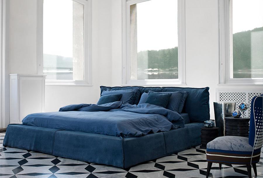 Modello di letto imbottito di Baxter n.01
