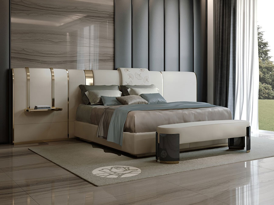 Modello di letto imbottito di Bizzotto n.01