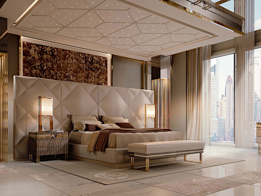 Modello di letto imbottito di Bizzotto n.02