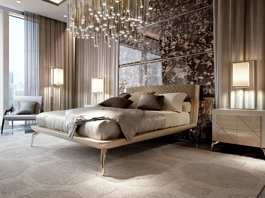 Modello di letto imbottito di Bizzotto n.03