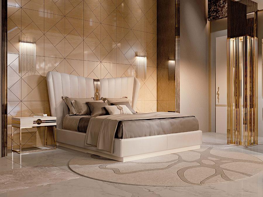 Modello di letto imbottito di Bizzotto n.04