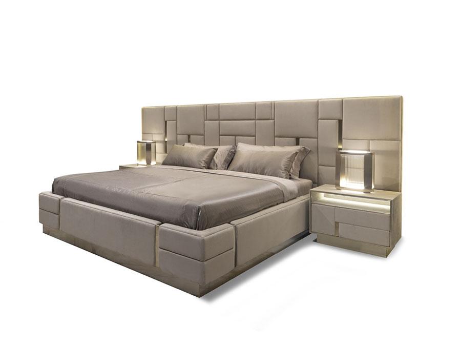 Modello di letto imbottito di Visionnaire n.05