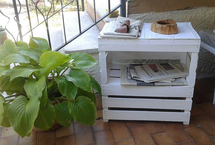 Come arredare un terrazzo low cost con le cassetta della frutta n.02