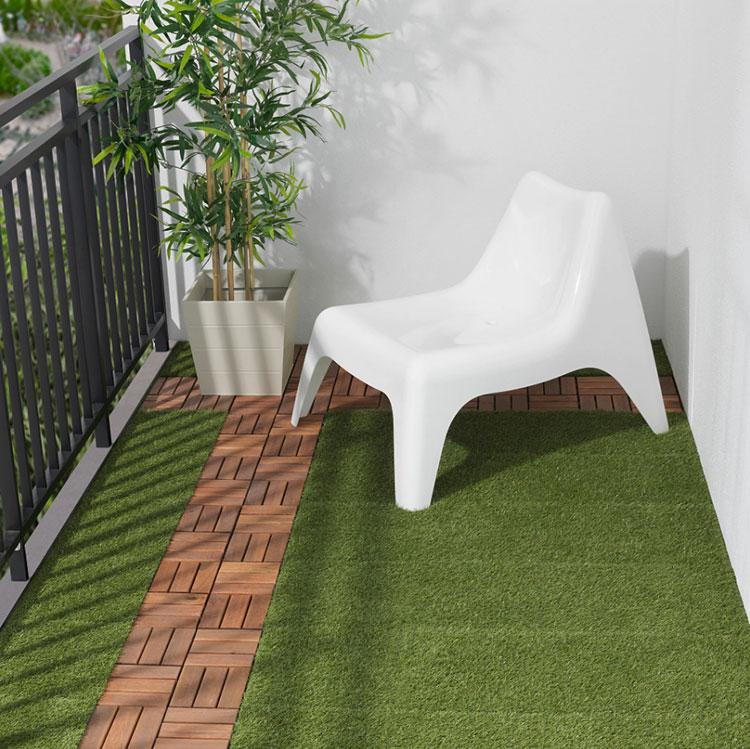 Come arredare un terrazzo low cost con pavimentazione 03