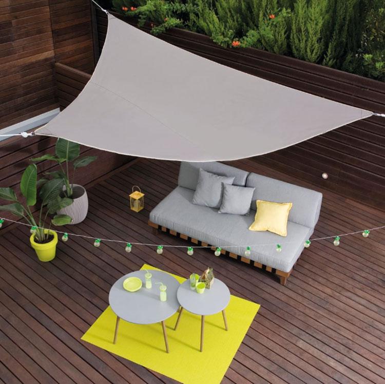 Come arredare un terrazzo low cost con vele 01