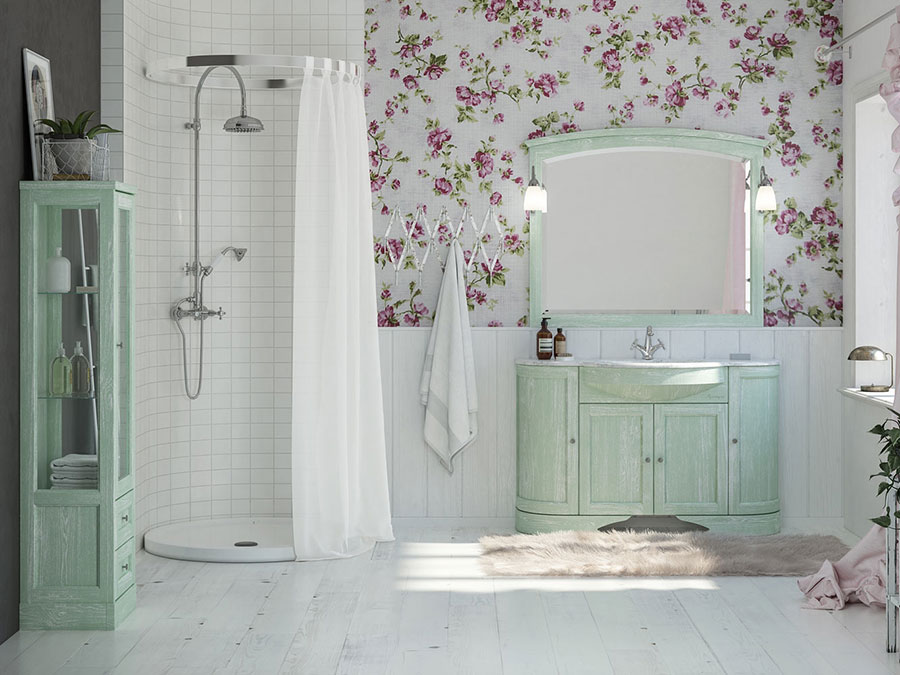 Idee di arredamento per bagno classico n.08