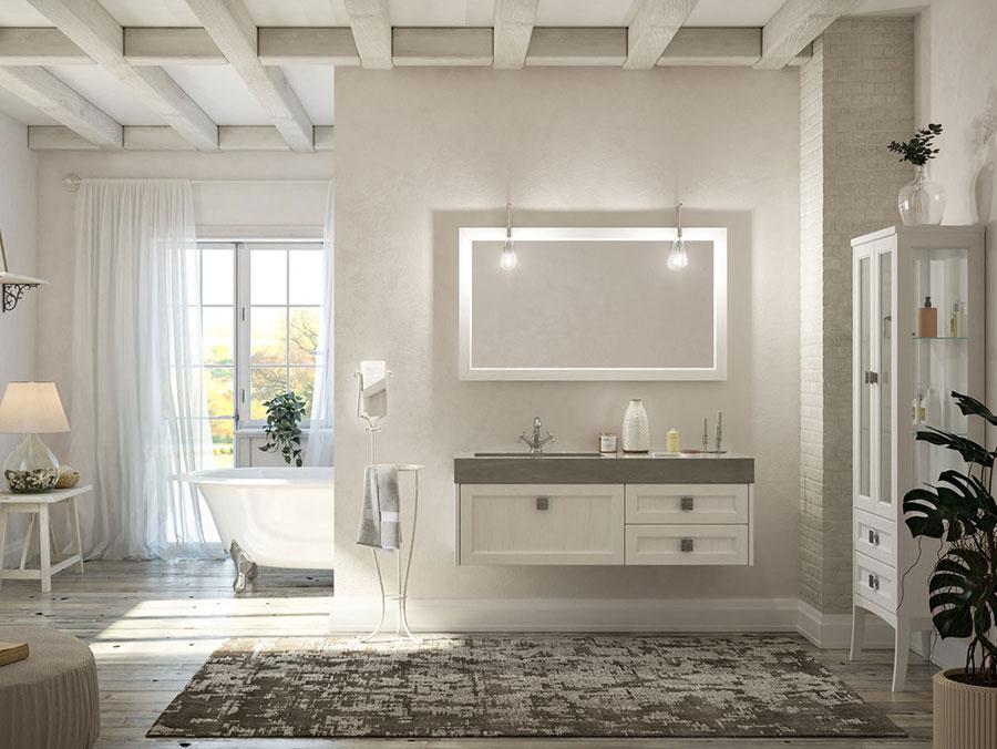 Idee di arredamento per bagno classico contemporaneo n.01