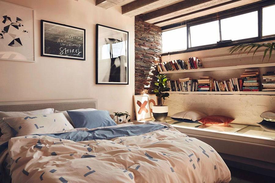 Idee per la libreria in camera da letto n.01