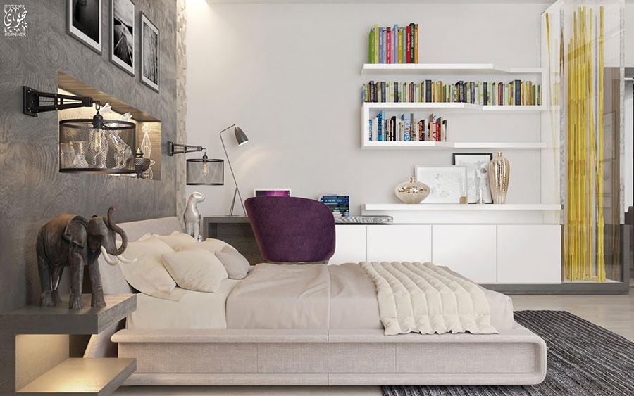Idee per la libreria in camera da letto n.02