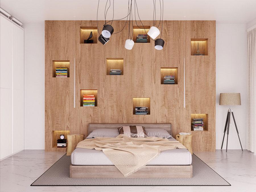 Idee per la libreria in camera da letto n.03