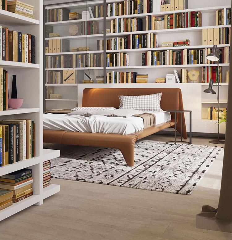 Idee per la libreria in camera da letto n.06