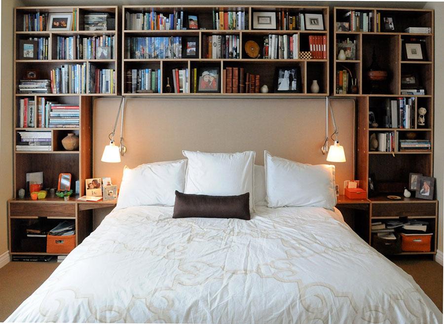 Idee per la libreria in camera da letto n.07