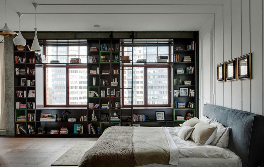 Idee per la libreria in camera da letto n.08