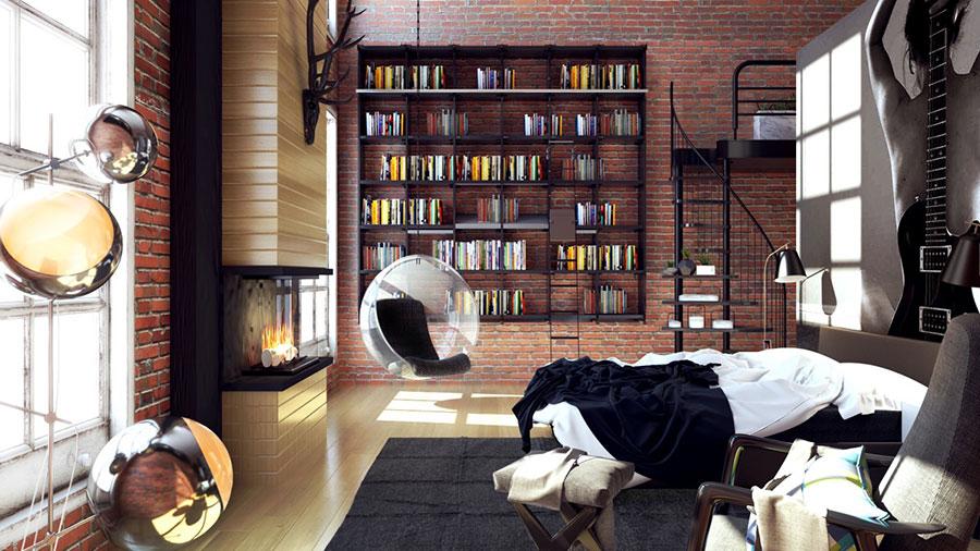 Idee per la libreria in camera da letto n.10