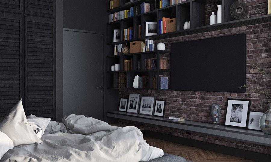 Idee per la libreria in camera da letto n.12