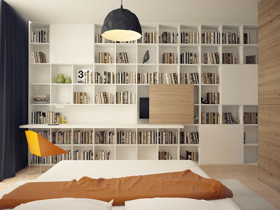 Idee per la libreria in camera da letto n.15