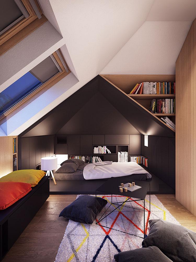 Idee per la libreria in camera da letto n.16