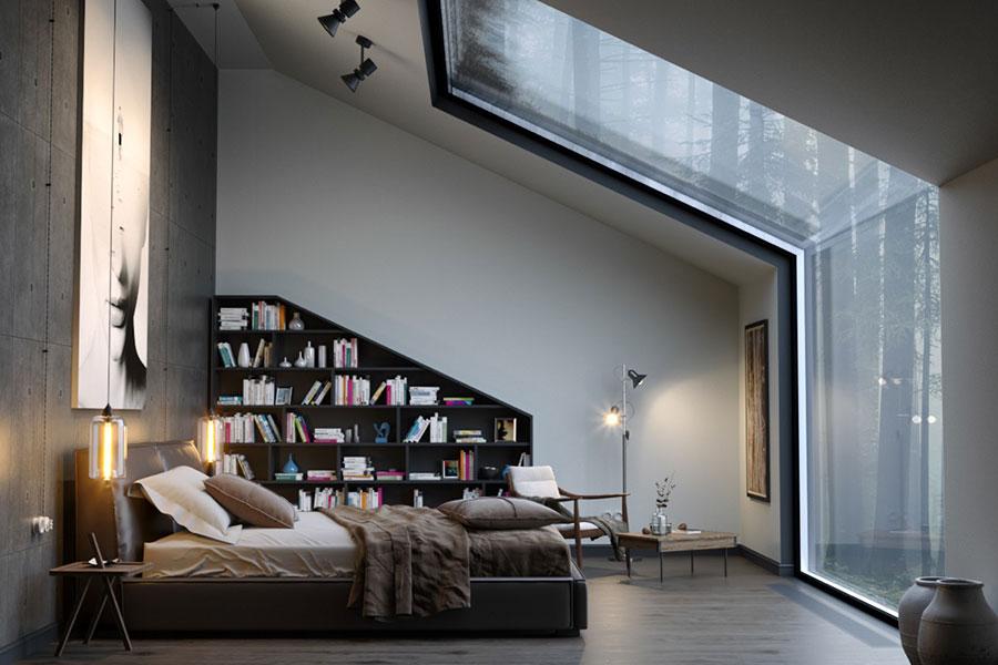 Idee per la libreria in camera da letto n.17