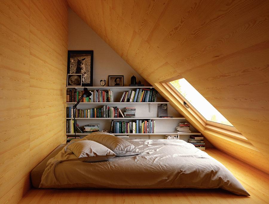 Idee per la libreria in camera da letto n.18