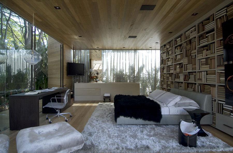 Idee per la libreria in camera da letto n.19