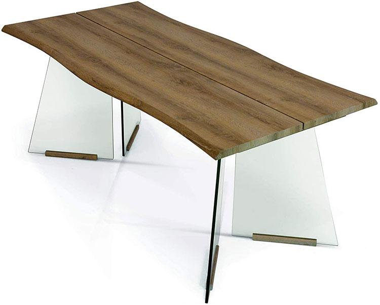 Modello di tavolo in legno grezzo economico n.04