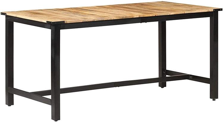 Modello di tavolo in legno grezzo economico n.05