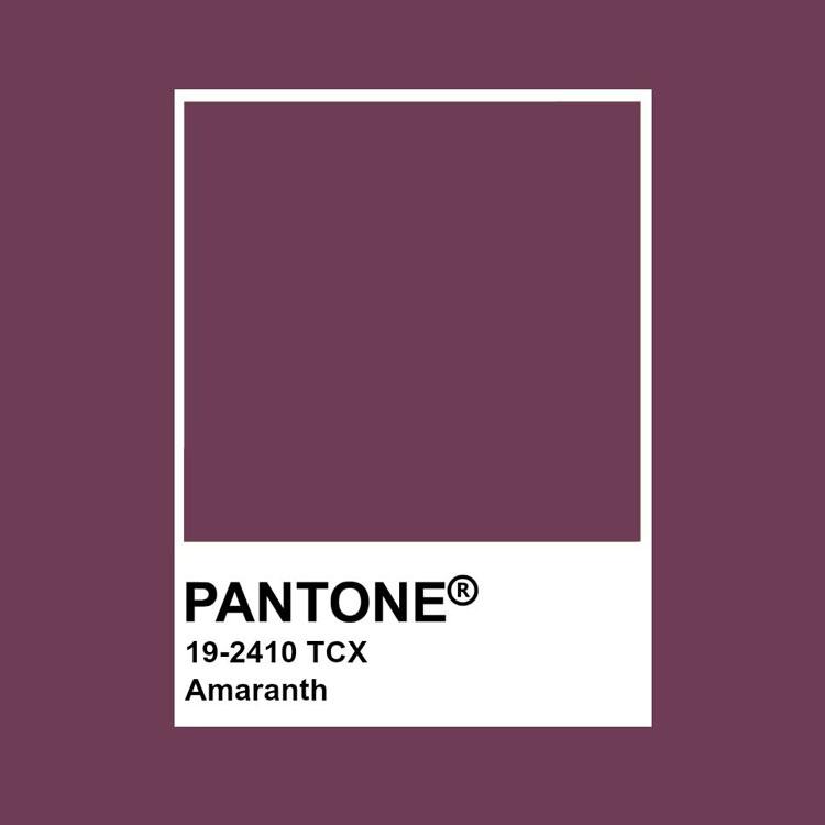 Identificazione colore amaranto Pantone