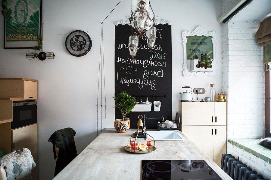 Piccola cucina con isola a muro n.06