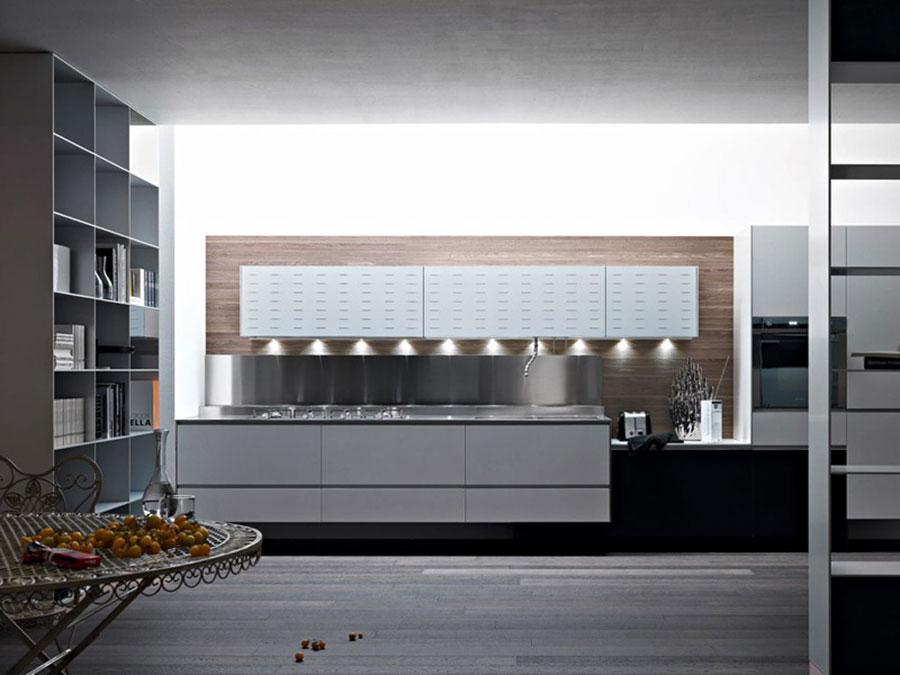 Modello di cucina sospesa Valcucine n.01