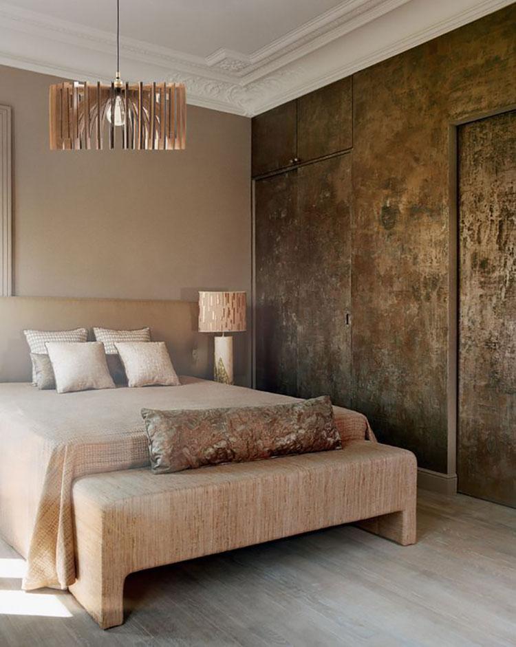 Colore rilassante metallico per la camera da letto n.04