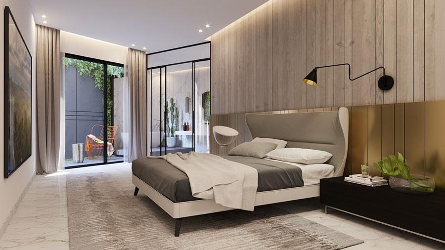 Colore rilassante metallico per la camera da letto n.02
