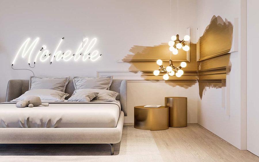 Colore rilassante metallico per la camera da letto n.03