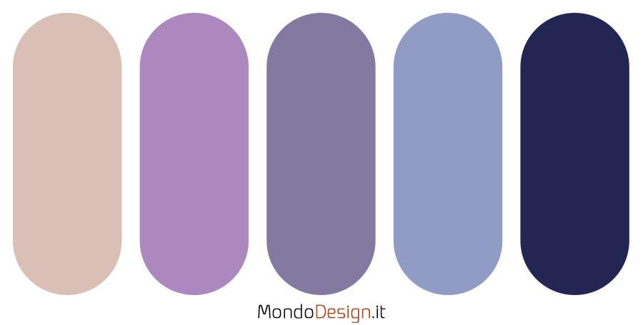 Palette colore lilla n.03
