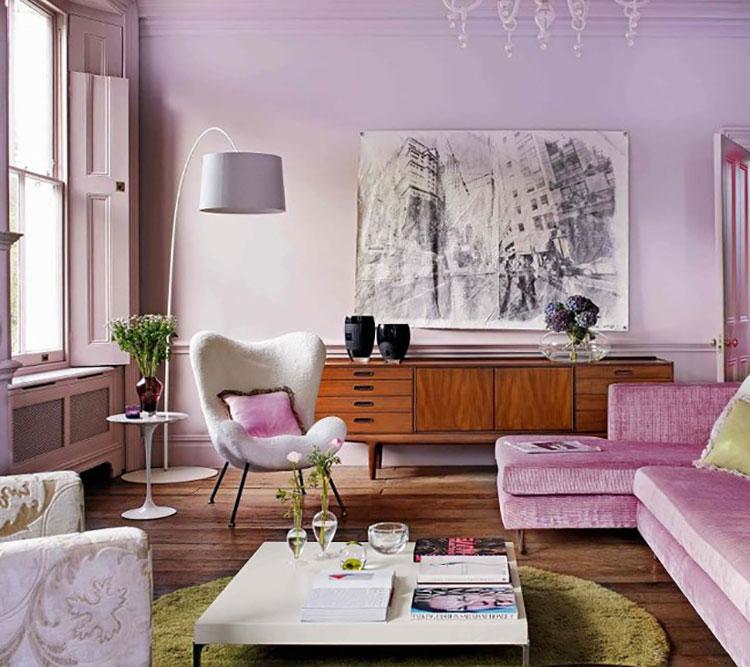 Colore lilla per soggiorno n.02