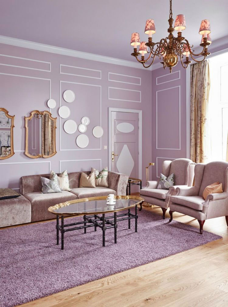 Colore lilla per soggiorno n.03