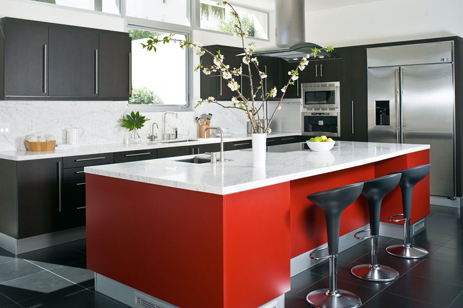 Modello di cucina con isola n.03