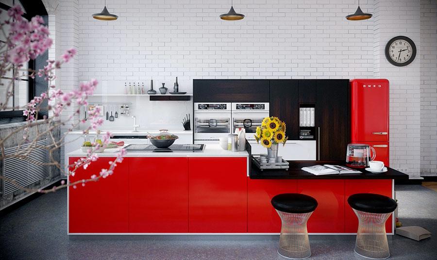Modello di cucina con isola n.04