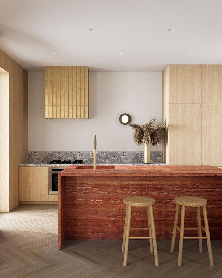 Modello di cucina con isola n.05