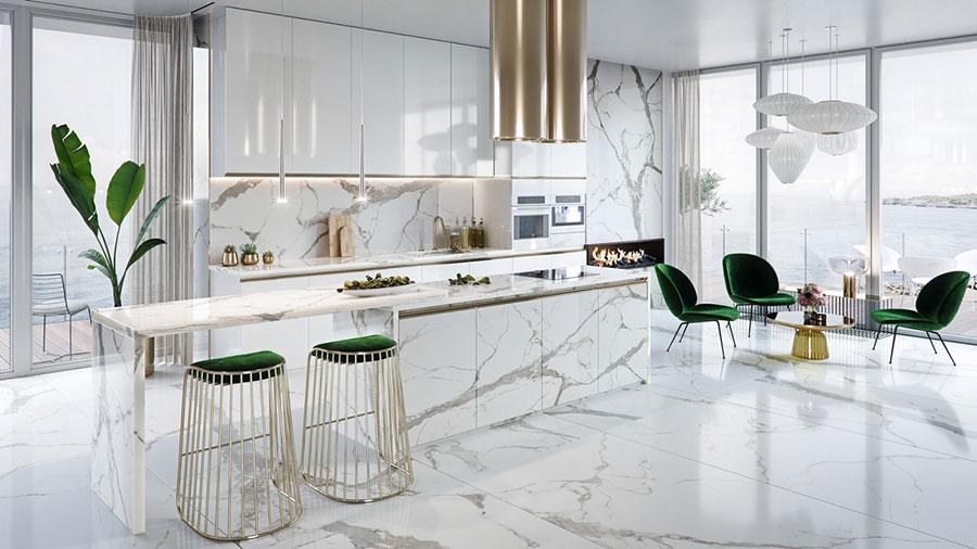 Modello di cucina con isola n.10